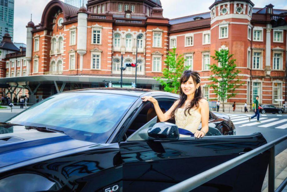 東京駅結婚式前撮りと車