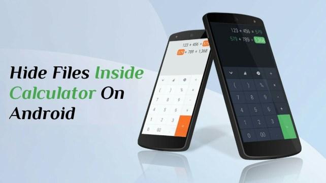 Hide files inside Calculator