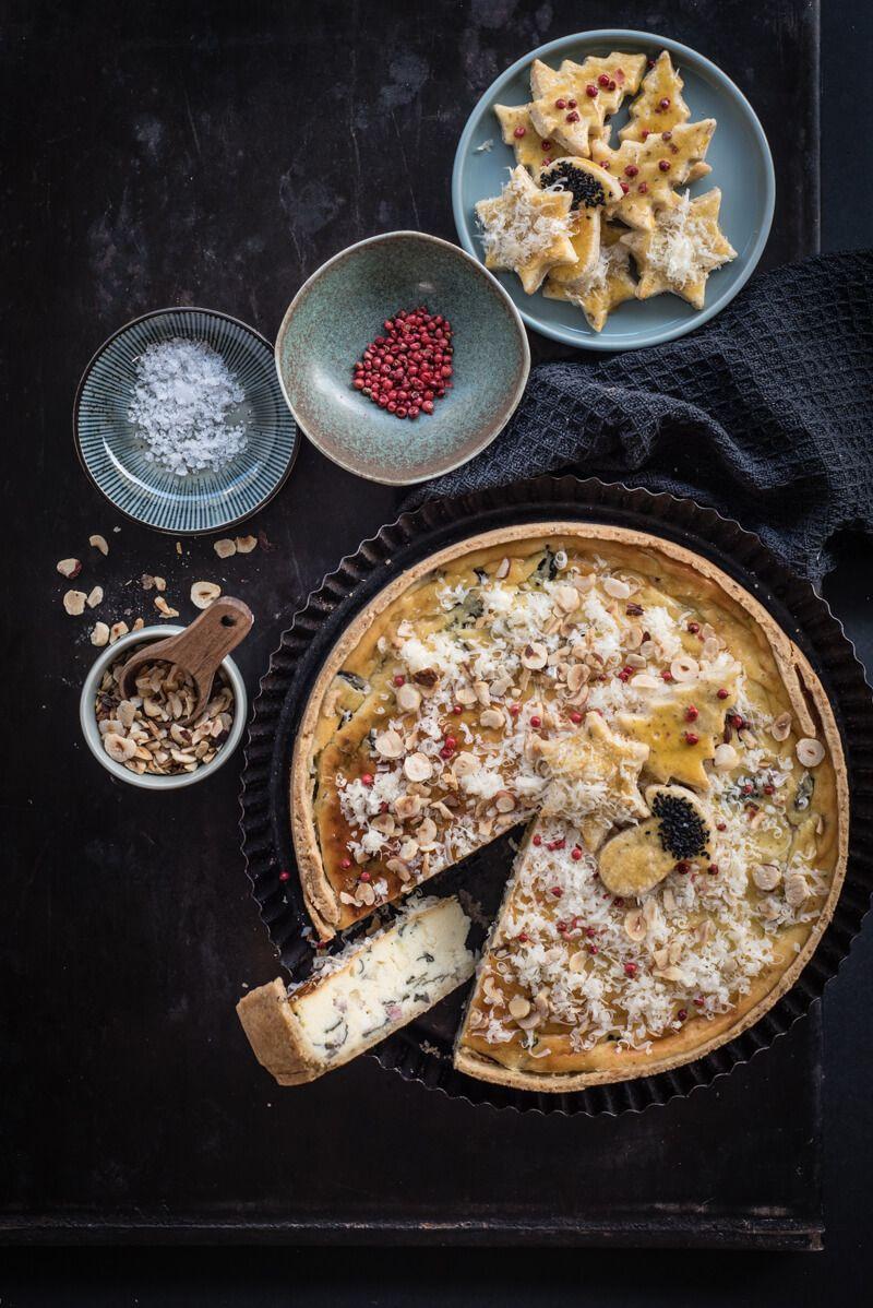 herzhafter kaesekuchen bergkaese mangold trickytine