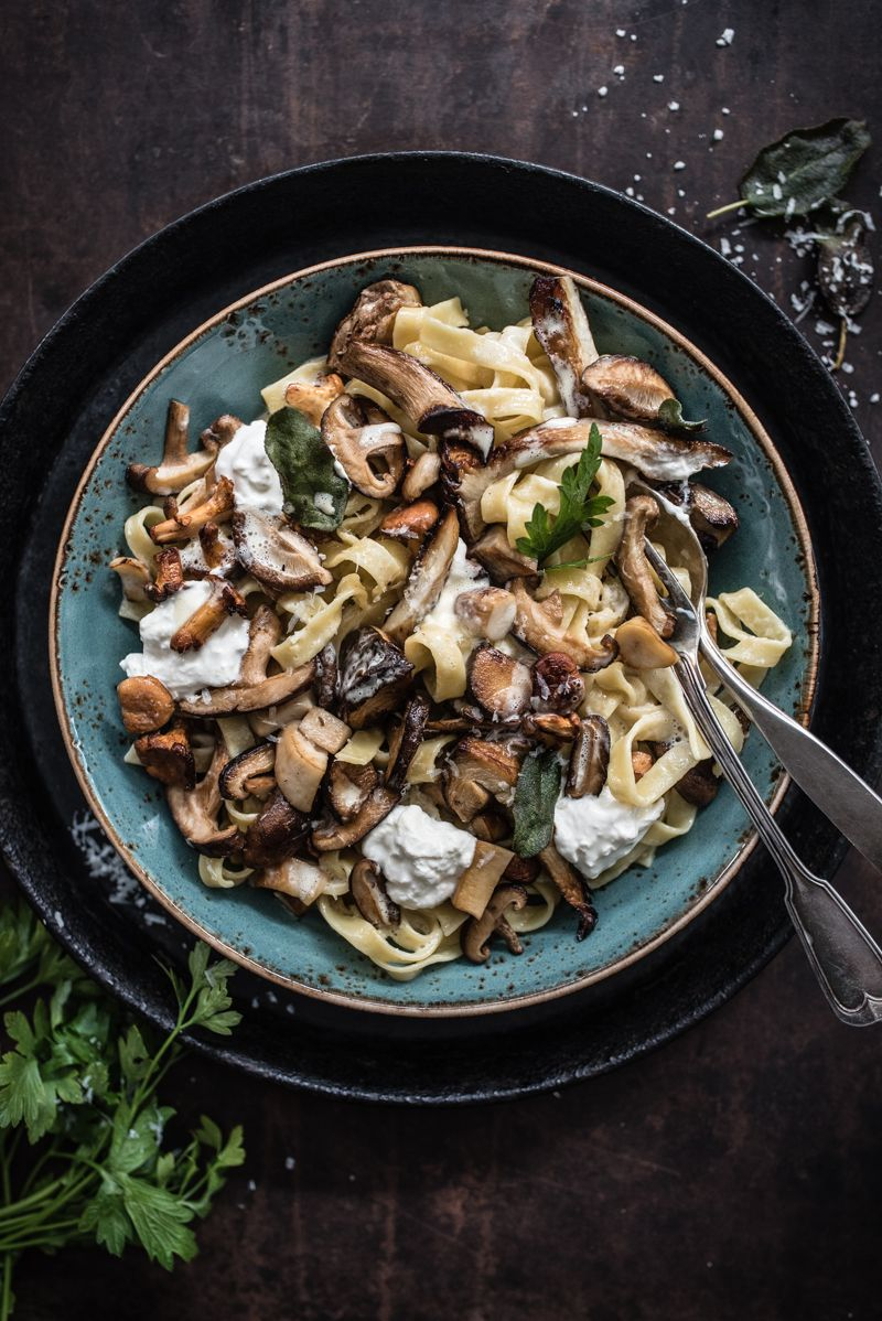 pilzpasta trickytine foodblog