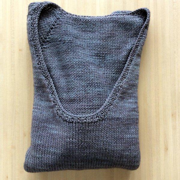 Pull tricoté à la main