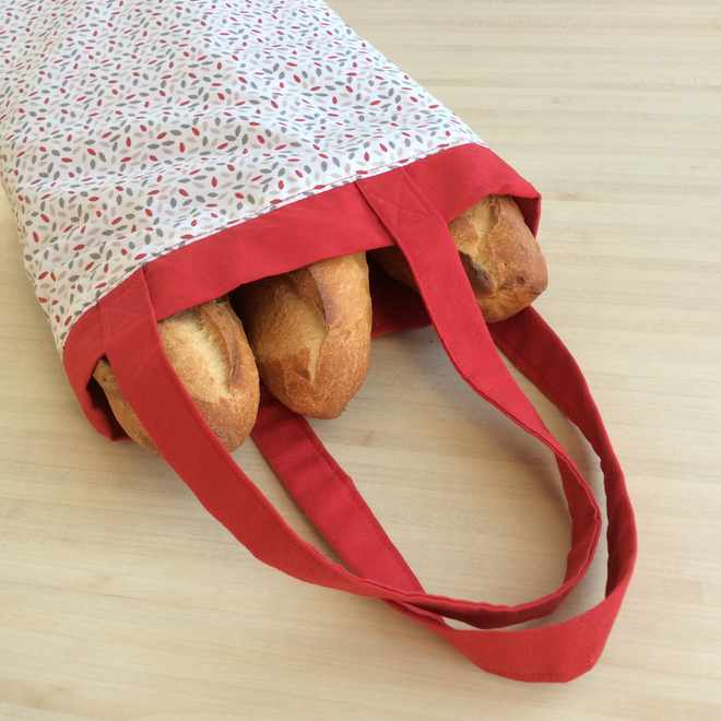 Un sac à pain pour éviter les emballages en papier