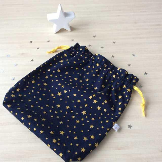 pochon étoiles bleu marine Noël