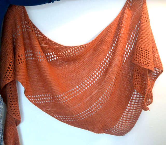 châle orange