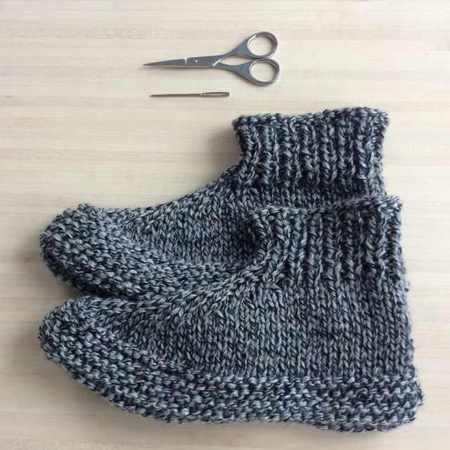 patron chaussons tricotés adultes