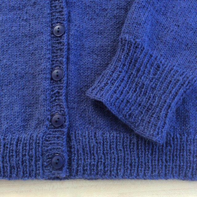 Veste en laine tricotée à la main