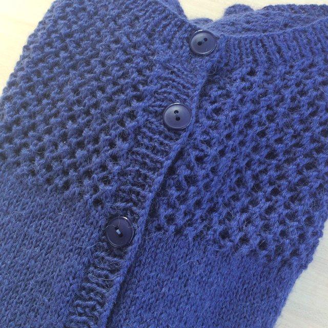 Veste tricot en drops flora