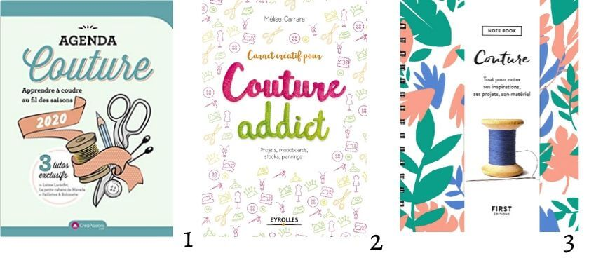 agenda et carnets de couture - bibliothèque de la couturière