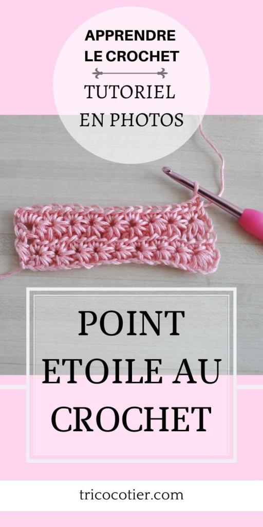 Tuto gratuit point étoile au crochet