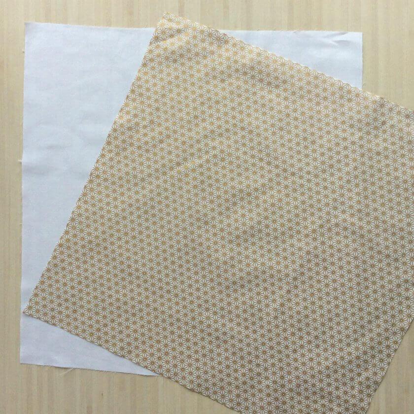 2 tissus carrés