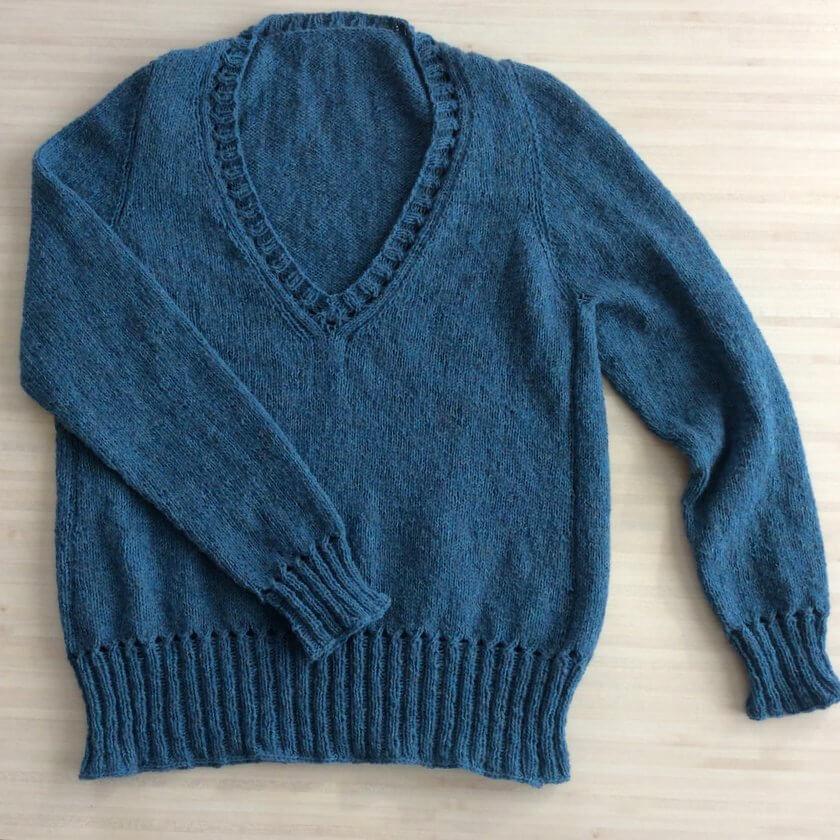 modèle de pull femme à tricoter Báirbre