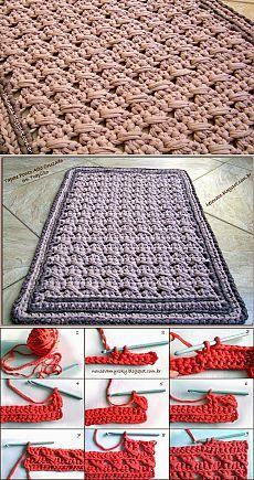 tapis au crochet en trapilho