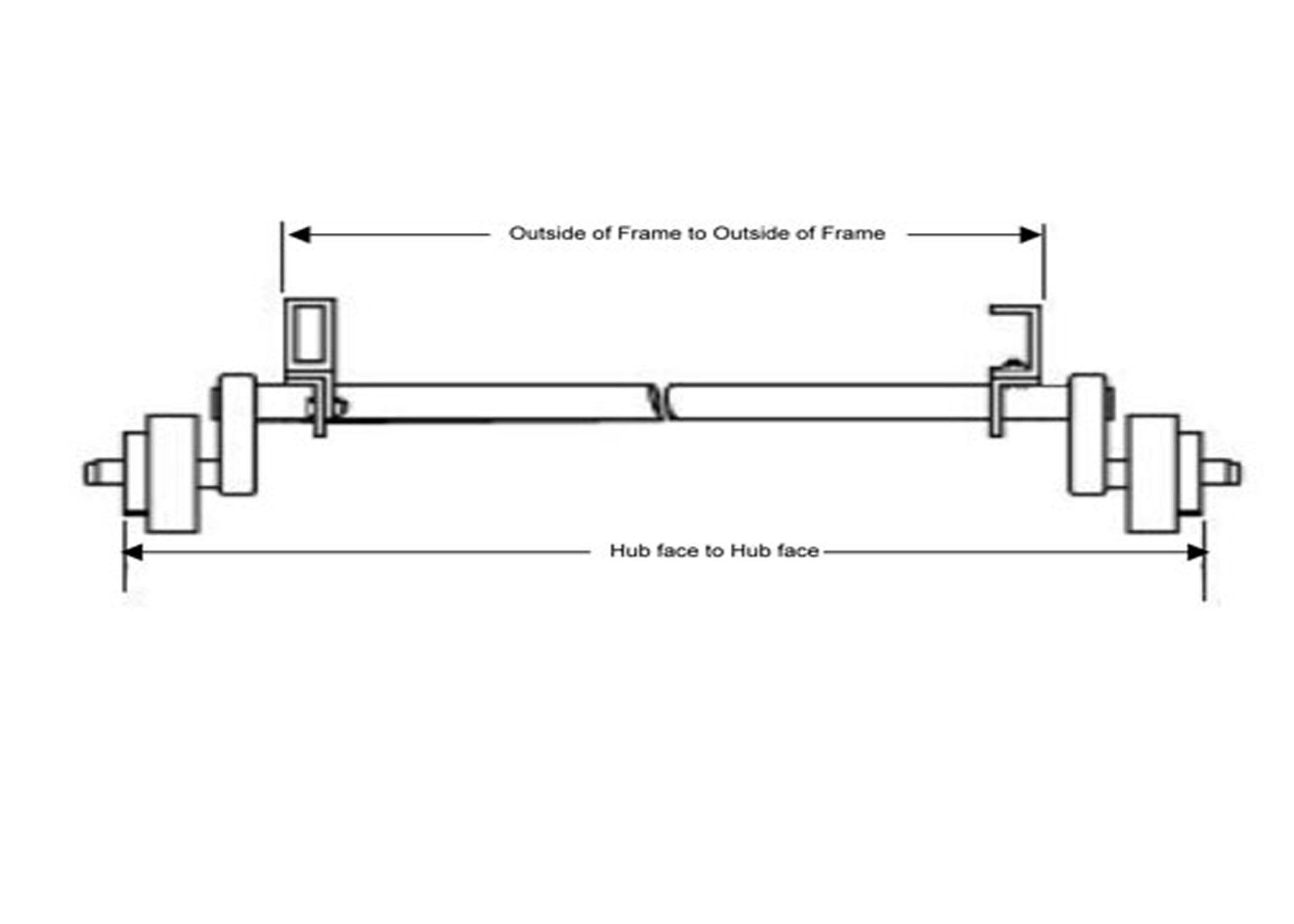 """2200 #9 TORFLEX AXLE W/ IDLERS, HF 84"""""""