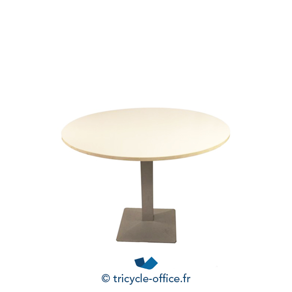 table ronde avec pied central blanc occasion