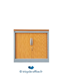 armoire basse blanche coulissante