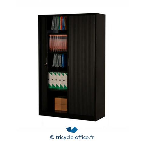 armoire metallique a rideaux noir occasion