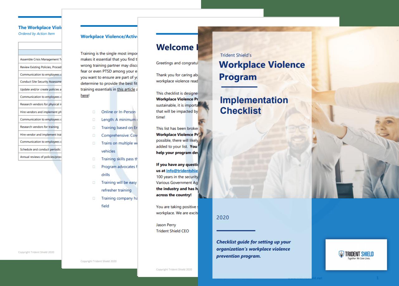 Workplace Violence Prevention Checklist - Pages - Transparent Background