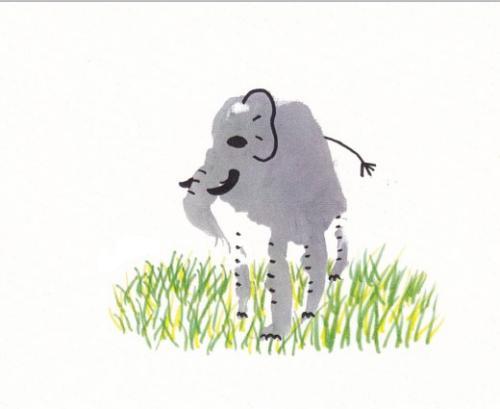 слон из отпечатков