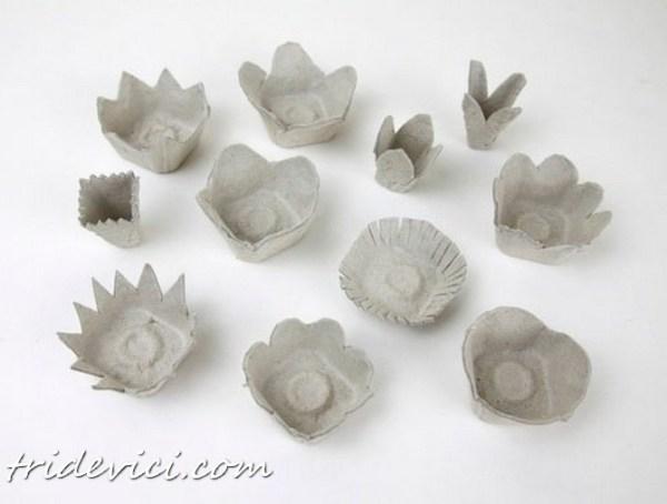 цветы из яичных лотков (7)