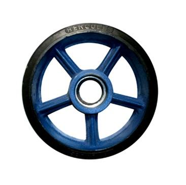 Rubber Castor Wheel Duty Velg Besi Cor (Light Duty)