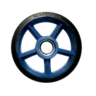 Rubber Castor Wheel Duty Velg Besi Cor (Light Duty)
