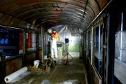 <h5>Sandstrahlen</h5><p>Vorbereiten zum Sandstrahlen</p>