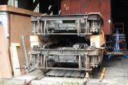 <h5>Lagerung der Drehgestelle</h5><p>Dank 2 massiven Holzbalken können die Drehgestelle platzsparend gelagert werden</p>