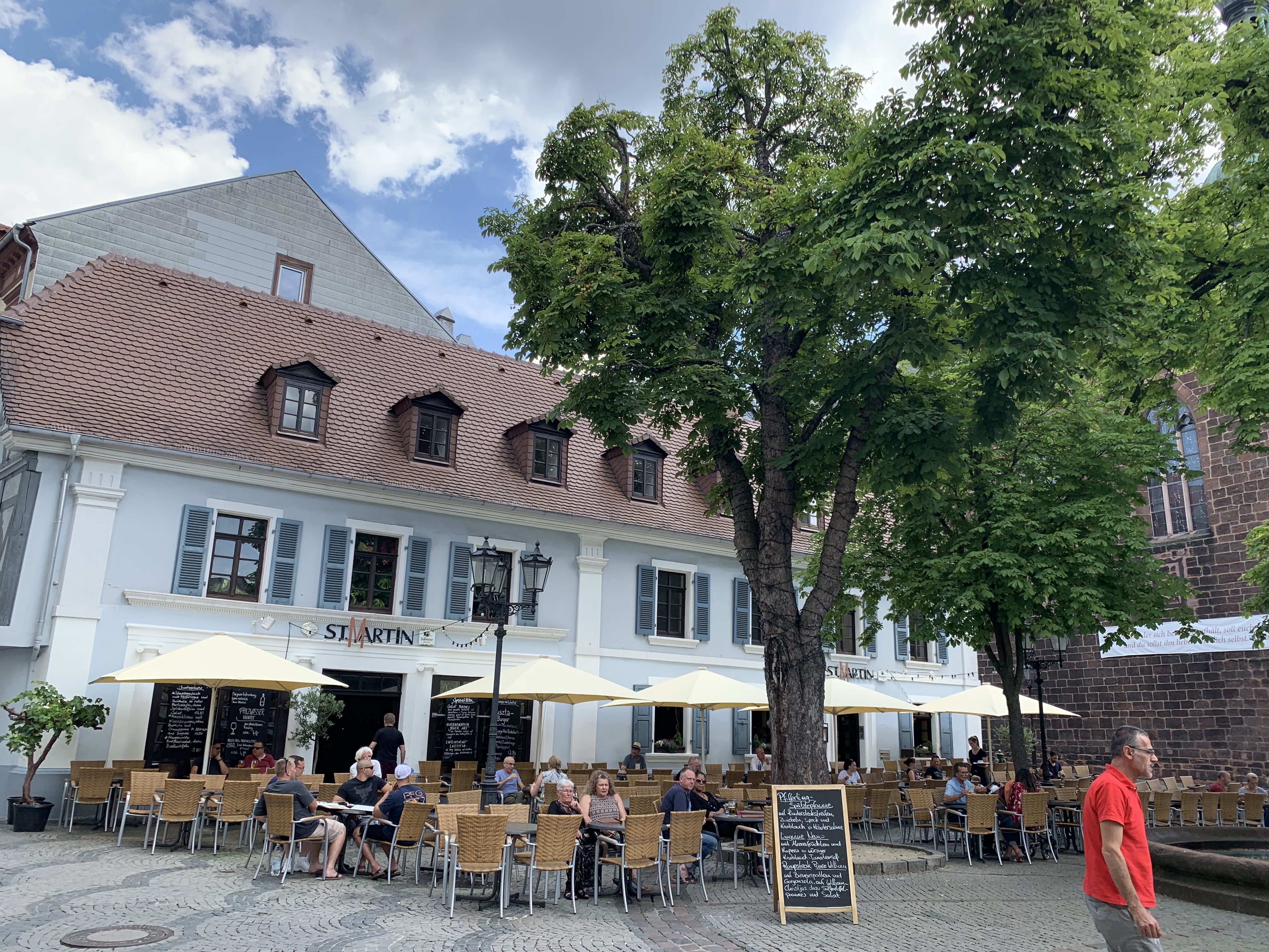 St. Martin square has a cute outdoor restaurant