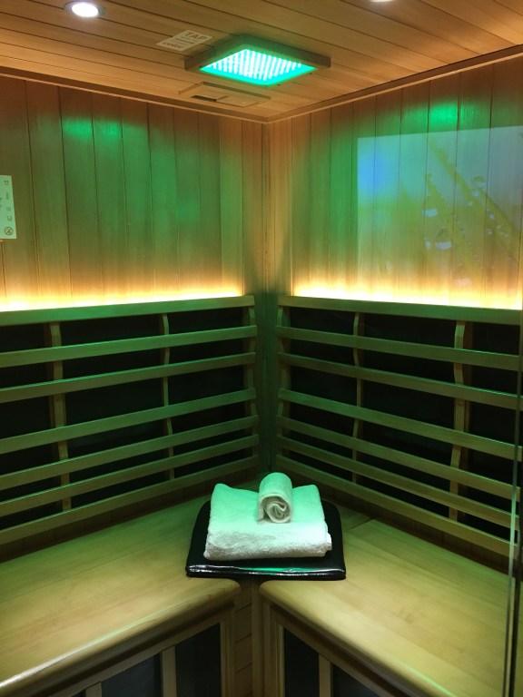 Sauna room at Perspire in Atlanta
