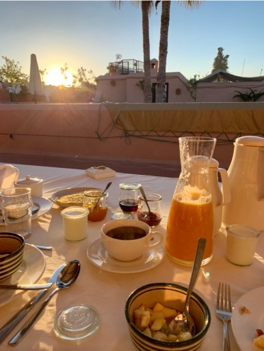Moroccan breakfast in our Marrakech riad