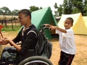 Nepali children camping in Nepal.