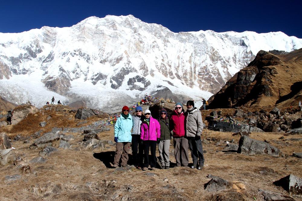 Trekkers make it to Annapurna Base Camp!