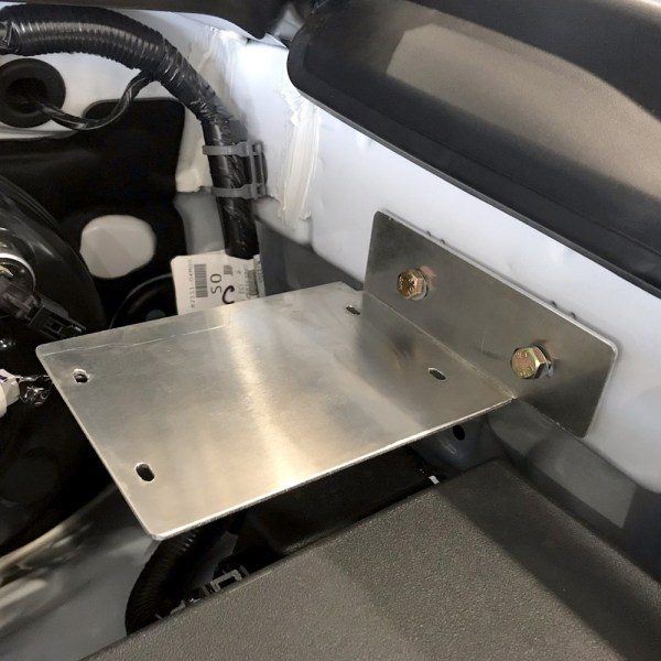 trigger controller Toyota Tacoma underhood bracket 2019 installed 01