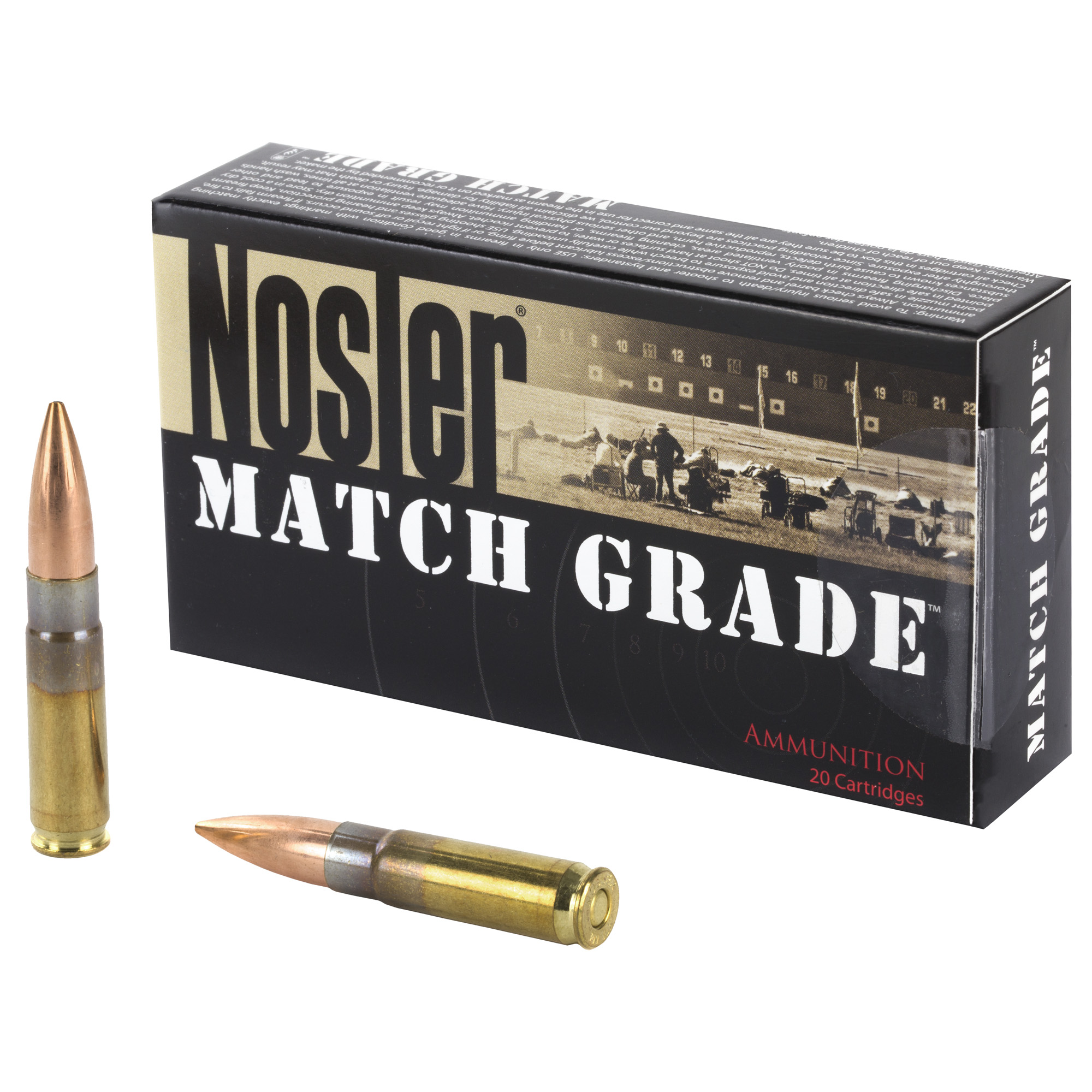 Nosler 300 BlackOut 220gr Subsonic Custom Competition 20 Round Box