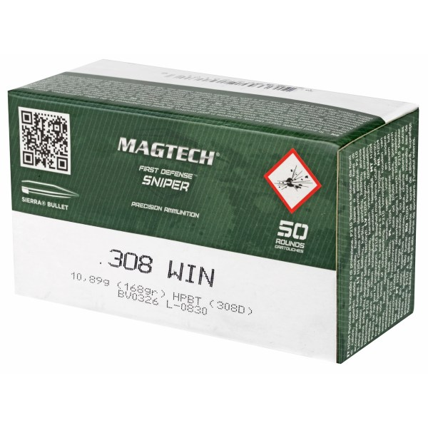 Magtech 308 Wichester 168gr Hollow Point Boat Tail 50 Round Box