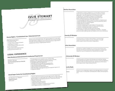 Julie's Custom Resume Design