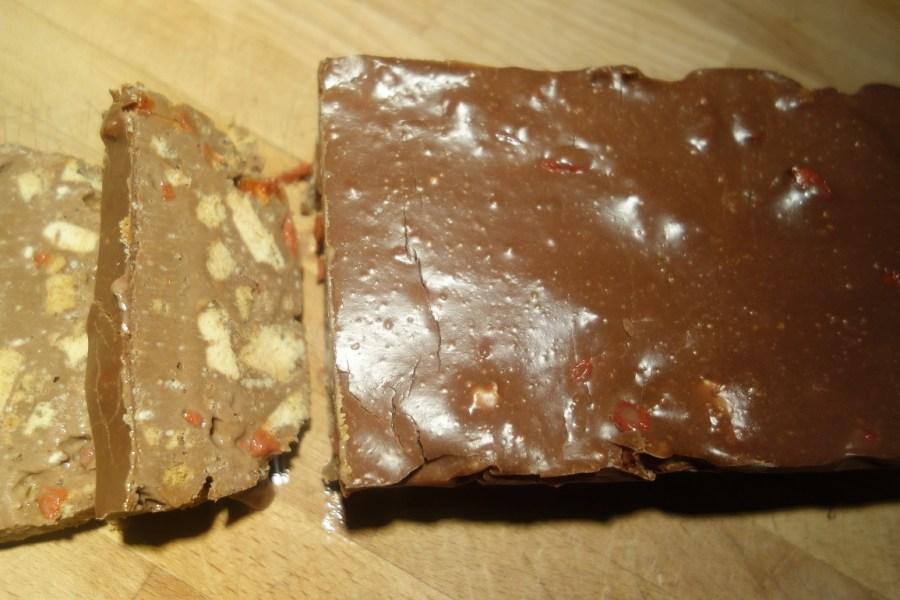 Blok czekoladowy z jagodami goji