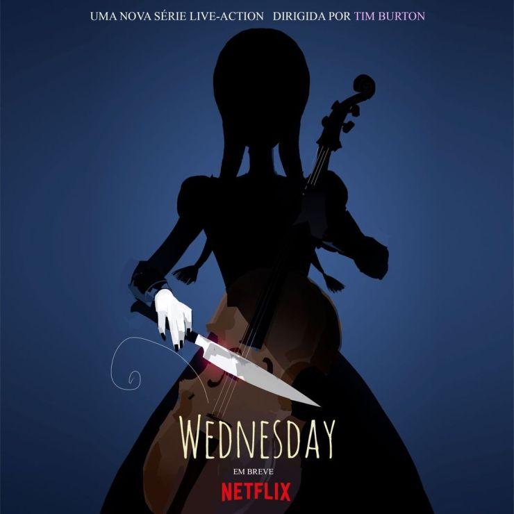 Wednesday addams série da Netflix e Tim Burton