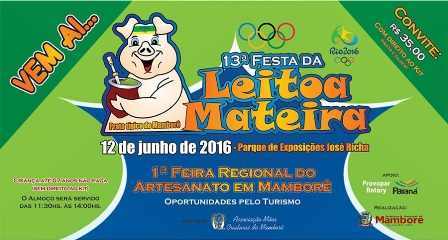Cartaz da Festa da Leitoa Mateira - Mamborê
