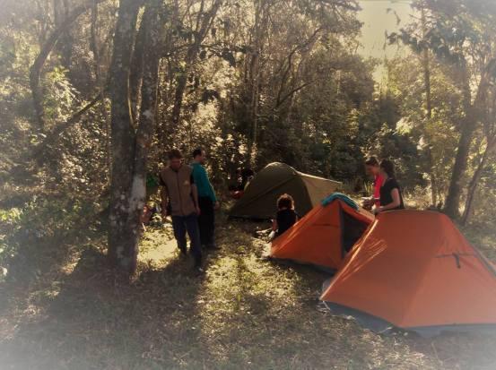 Acampamento em Tibagi- Foto gentilmente cedida por Camping Parada do Guartelá