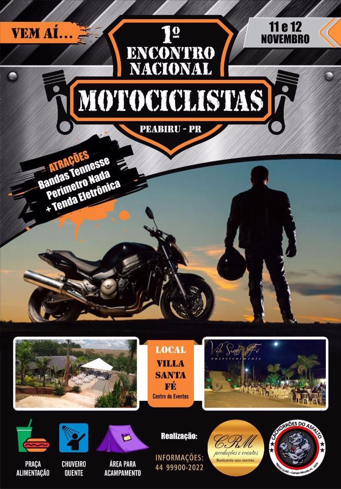 Peabiru encontro nacional de motociclistas