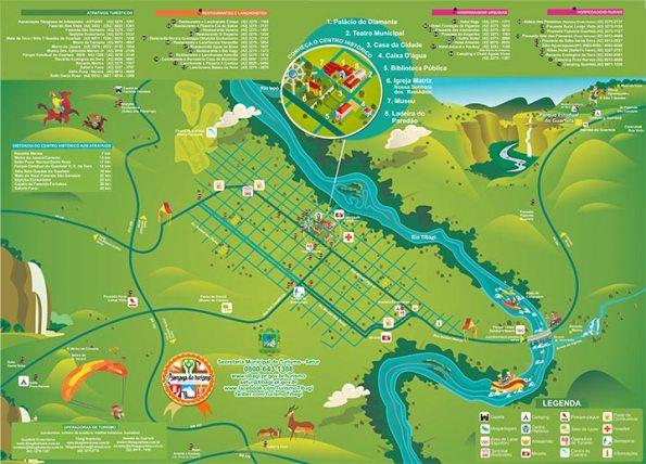 Mapa do turismo de Tibagi- 2014 (Divulgação/ Município de Tibagi)