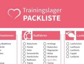 Triathlon Trainingslager Packliste