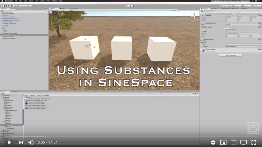 Using Substances with SineSpace  Building a region for SineSpace is easy at first, but can get complicated quickly. There is a lot to learn, and as you add items the filesize of your region quickly starts to expand. Learning to use substances with SineSpace is a great way to keep your region size under…