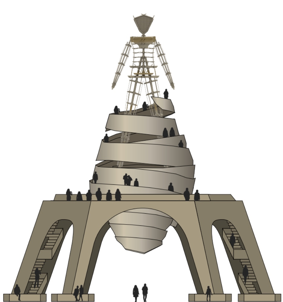 Burning Man base design by day