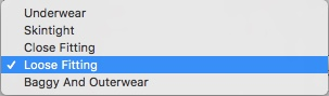 Clothing Layers Drop-Down