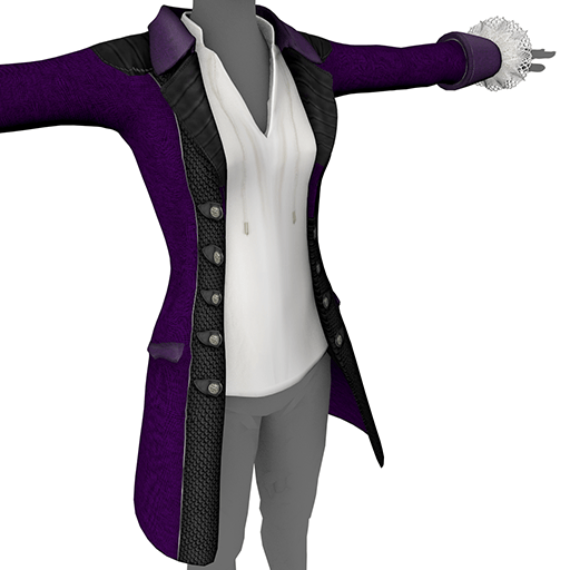 Purple Ladies' Coat