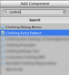 Clothing Extra Pattern Component