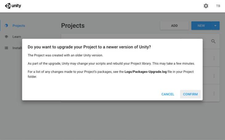 Unity Project Upgrade