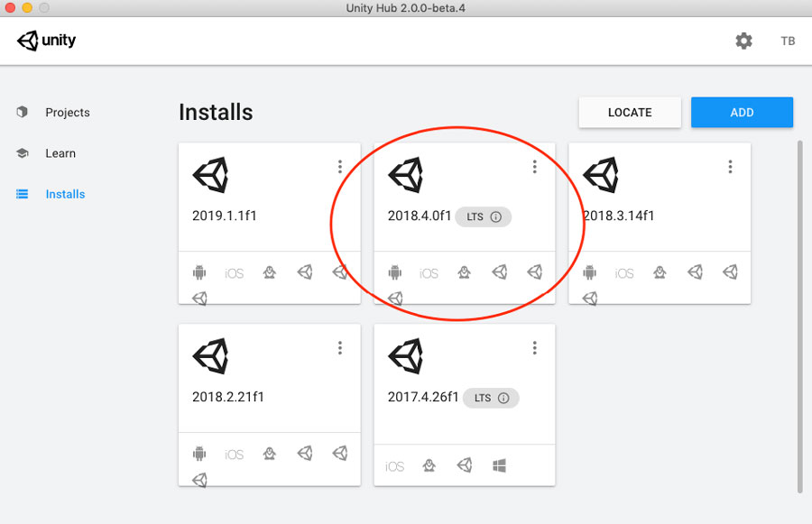 Unity 2018.4LTS and SineSpace